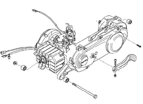 Aprilia - Suzuki - Motor 50 ccm