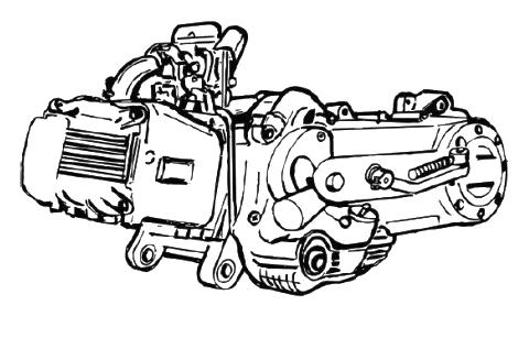 China Roller 4-Takt Motor