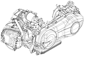 Piaggio Motor 125 ccm 4-Takt 3 Ventile + IGet