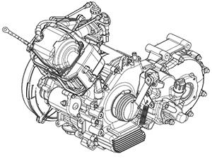 Ape Calessino 200 Motor