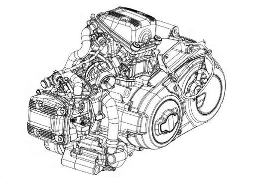 Gilera GP 800 SRV 850 Motor