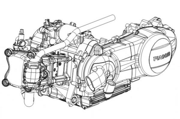 Piaggio Motor 250 ccm 4-Takt Leader - Quasar