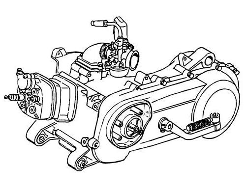 Piaggio Motor 50 ccm