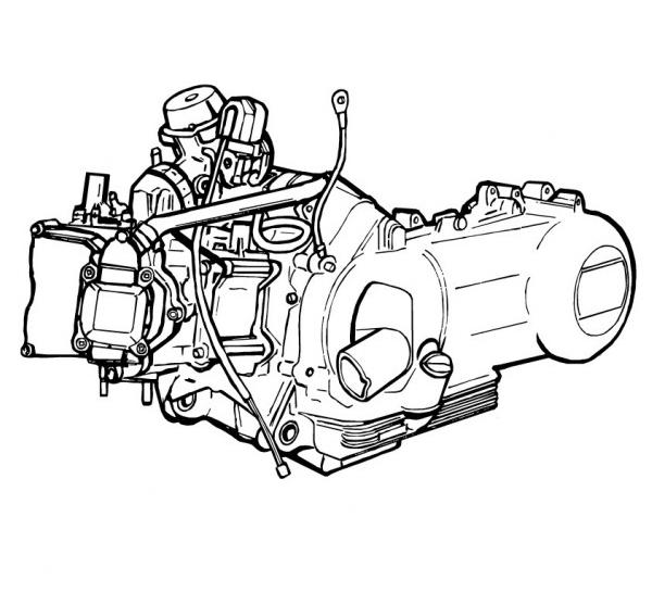 Piaggio Motor 125 ccm 4-Takt