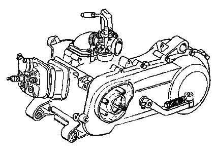 Piaggio Motor 2 Takt 125-180 ccm