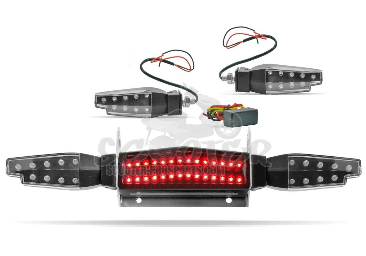 r cklicht blinker kit led universal mit relais scooter. Black Bedroom Furniture Sets. Home Design Ideas