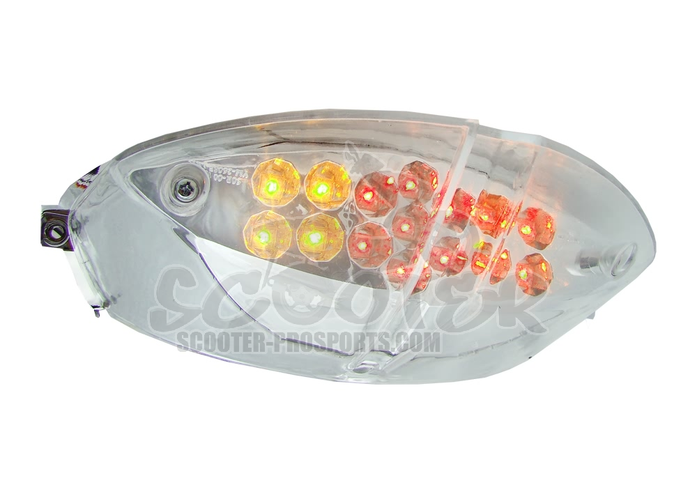 Rücklicht Klarglas Lexus LED mit Blinker TNT (ABE) Speedfight 2 Art.Nr.AC204416FBL
