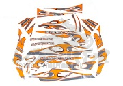Karosserie Aufklebersatz Racing TNT Orange/grau - Derbi Senda