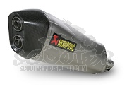 Auspuff Akrapovic Slip-on Line (ABE) - Fuoco - Satelis - MP3 - Beverly 400 500