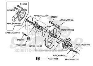 wasserpumpe aprilia suzuki ditech 50 ccm scooter prosports. Black Bedroom Furniture Sets. Home Design Ideas