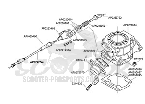 aprilia rs 125 auslassschieber scooter prosports. Black Bedroom Furniture Sets. Home Design Ideas