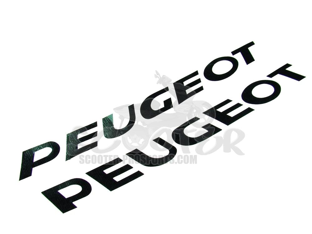 Peugeot Aufkleber Gross Schwarz 2 Stück