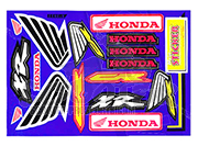 Sponsor Stickerset Honda Racing  - 14-teilig