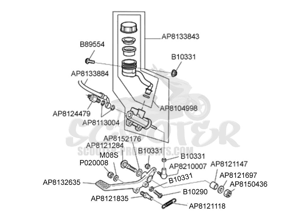 Aprilia Rs 125 Bremspumpe hinten √ Scooter-ProSports