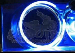 neonr hre led mini angel eye blau 40 59 mm scooter prosports. Black Bedroom Furniture Sets. Home Design Ideas