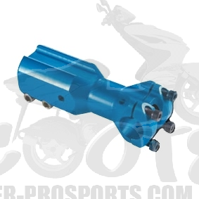 Downhill Lenkeraufnahme Doppler Alu blau - Peugeot Speedfight - Jetforce - Vivacity - Tekker Art.Nr.DO451834