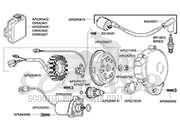 Explosionsskizze Aprilia RS 125 ccm √ Scooter-ProSports