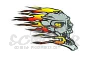 Fire Death�s Head Aufkleber