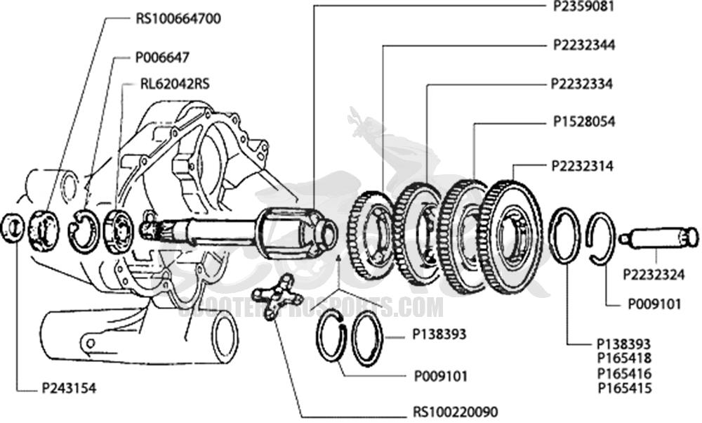 Schaltgetriebe Vespa PX 200 √ Scooter-ProSports