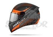 MT Helmets Integralhelm Stinger Divided - orange/gunmetal