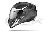 MT Helmets Integralhelm Stinger Divided - weiss/gunmetal