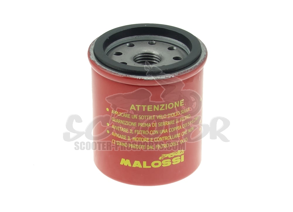 Ölfilter Malossi Red Chilli - Piaggio 125 - 300 ccm - Runner - Beverly - MP3 - Vespa GTS - GTV - X7 - X8 - X9 - Sportcity - Atlantic Art.Nr.MS0313382