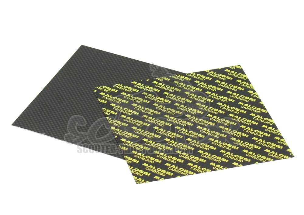 Membranplatten 100x100 mm Malossi Carbon 0,3mm Art.Nr.MS277366C0