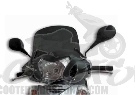 windschutzscheibe racing malossi honda sh 300i bis 2010. Black Bedroom Furniture Sets. Home Design Ideas