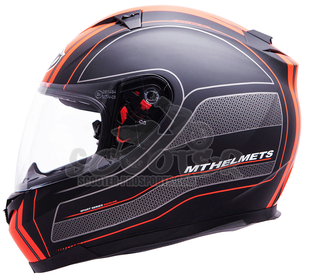 MT Helmets Integralhelm Blade SV Raceline schwarz-orange - integriertes Sonnenvisier Art.Nr.MT067-70