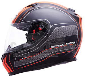 MT Helmets Integralhelm Blade Raceline schwarz/orange