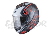 MT Helmets Integralhelm Blade SV Alpha schwarz/orange - integriertes Sonnenvisier