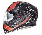 MT Helmets Integralhelm Thunder 3 SV Trace schwarz/orange - integriertes Sonnenvisier