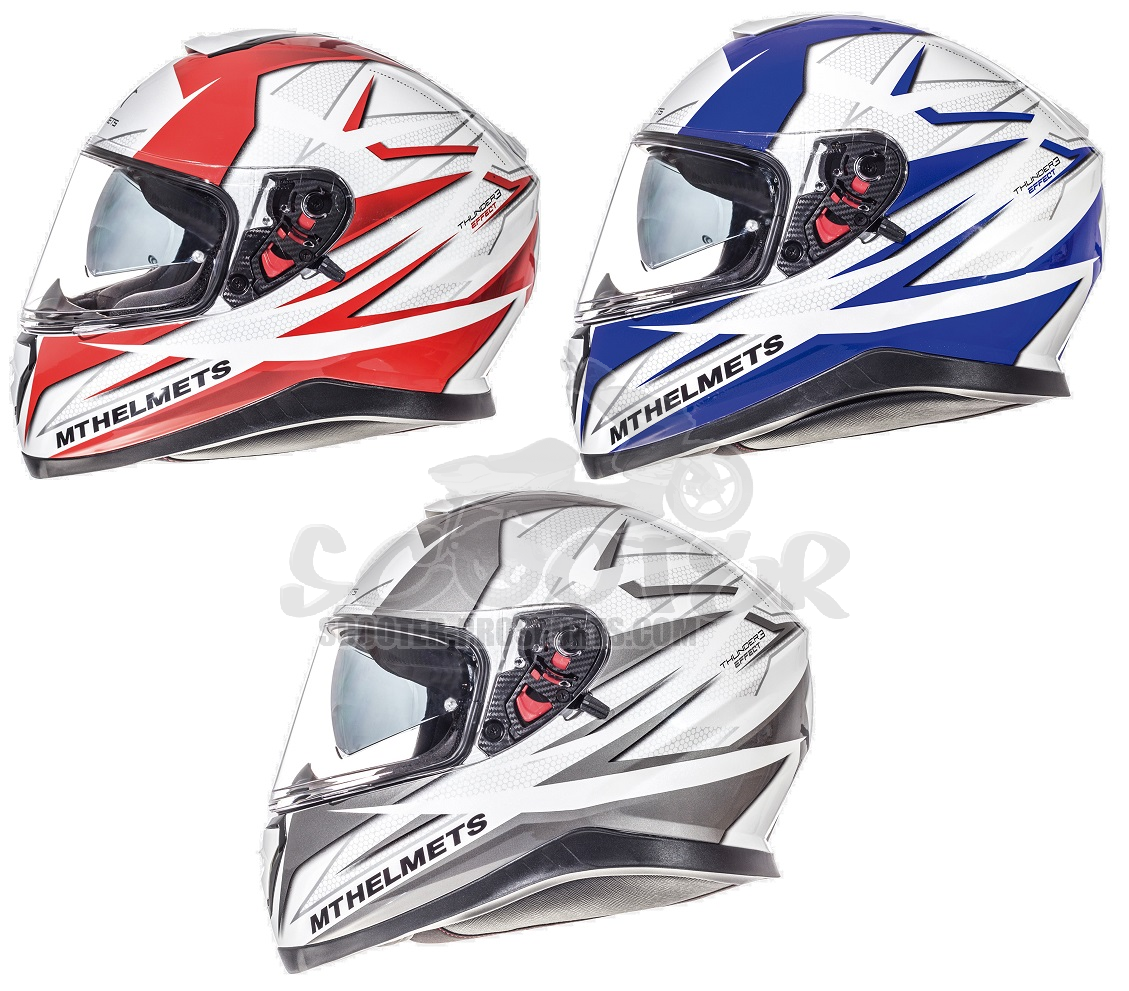 MT Helmets Integralhelm Thunder 3 Effect - intergriertes Sonnenvisier Art.Nr.MT1056357