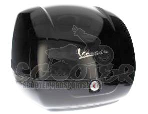 topcase kit schwarz vespa gts 125 250 300 scooter. Black Bedroom Furniture Sets. Home Design Ideas