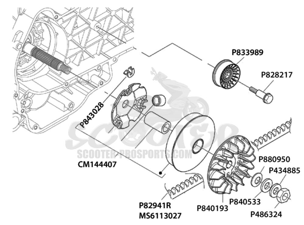 variomatik l fterrad piaggio 250 ccm scooter prosports. Black Bedroom Furniture Sets. Home Design Ideas