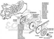 explosionsskizze piaggio motor 50 ccm scooter prosports. Black Bedroom Furniture Sets. Home Design Ideas