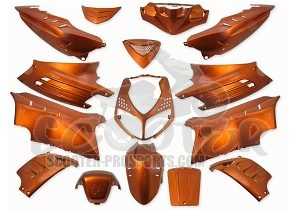 Verkleidungskit 15 Teile SPS-Racing orange metallic - Peugeot Speedfight 2
