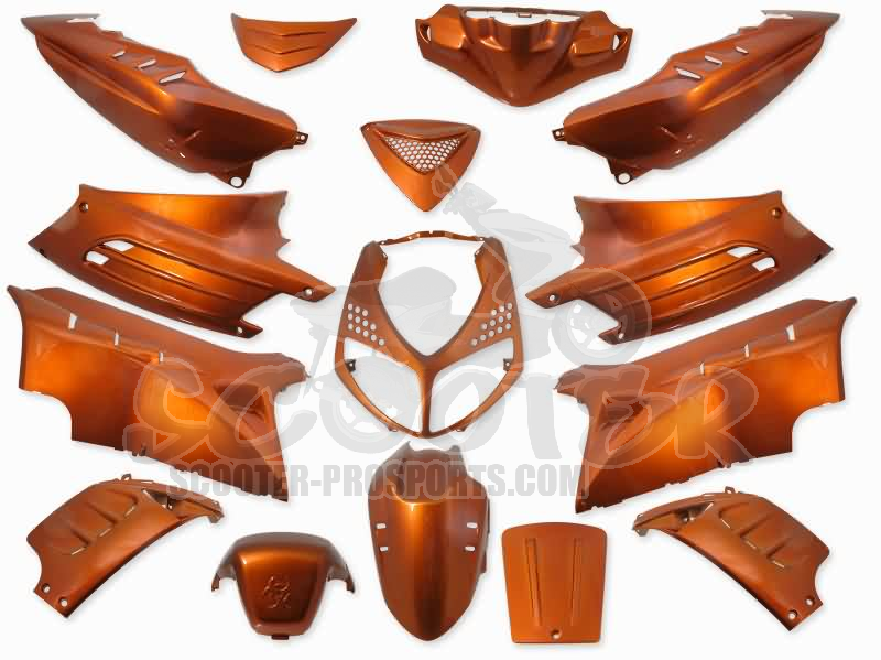 Verkleidungskit 15 Teile SPS-Racing orange metallic - Peugeot Speedfight 2 Art.Nr.SPPS1150501