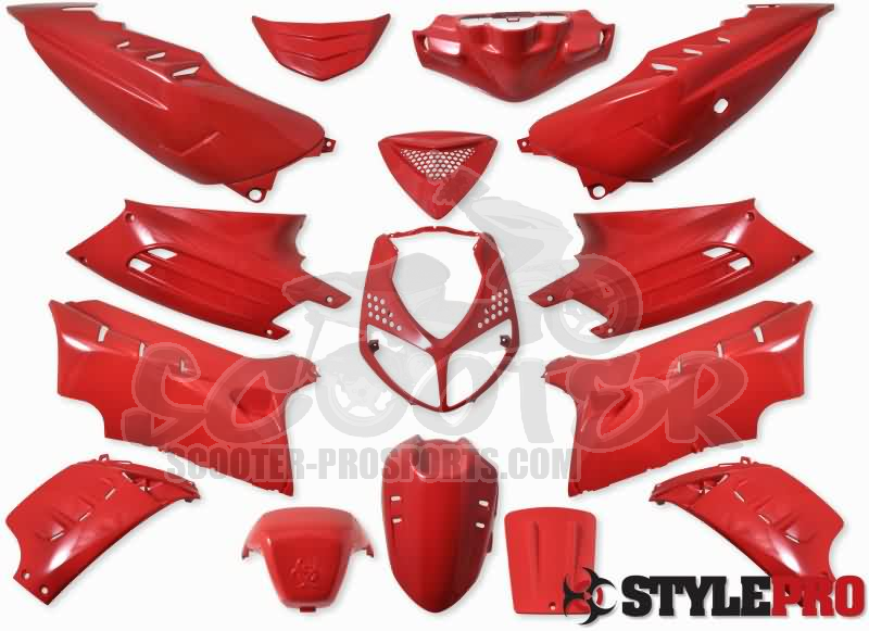 Verkleidungskit 15 Teile Sps Racing Scuderia Rot Peugeot Speedfight 2