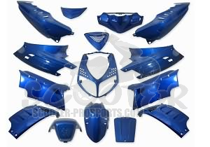 Verkleidungskit 15 Teile SPS-Racing blau metallic - Peugeot Speedfight 2