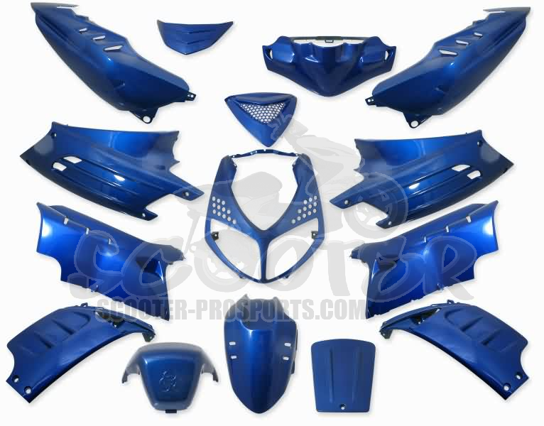 Verkleidungskit 15 Teile SPS-Racing blau metallic - Peugeot Speedfight 2 Art.Nr.SPPS1151601