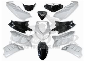 verkleidungskit 13 teile sps racing schwarz weiss. Black Bedroom Furniture Sets. Home Design Ideas