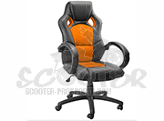 Chefsessel Modell Nero - orange - Sportsitz Racing Sessel Schreibtischstuhl - Drehstuhl - Bürostuhl - Racing Chair - Office Chair