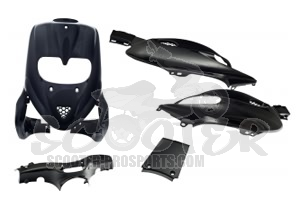 Verkleidungskit SPS-Racing 5 Teile Magic Black metallic - Gilera Stalker