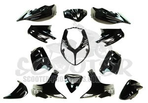 Verkleidungskit 13 Teile SPS-Racing Magic Black Metallic - Speedfight 2