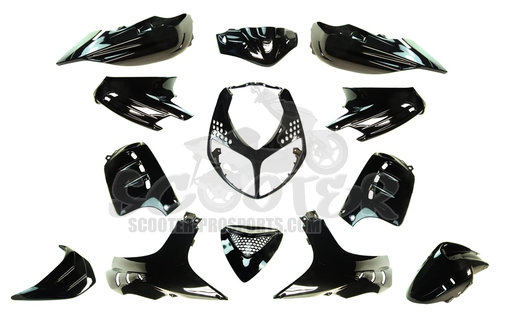 Verkleidungskit 13 Teile SPS-Racing Magic Black Metallic - Speedfight 2 Art.Nr.SPS218231