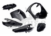Verkleidungskit SPS-racing 6 Teile Magic Black Metallic Peugeot Vivacity bis Baujahr 2007