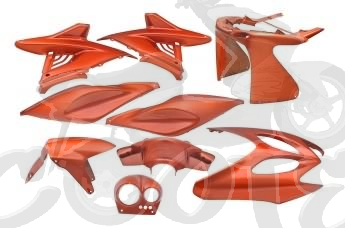Verkleidungskit 9 Teile SPS-Racing Flash orange - Aerox - Nitro Art.Nr.SPS218453