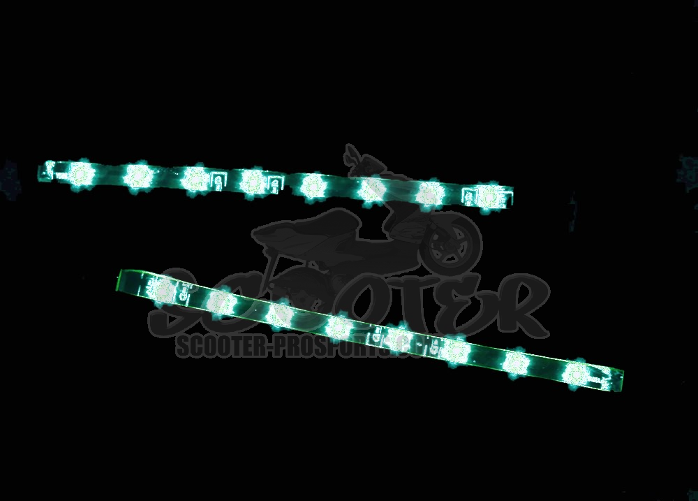 LED Slim Power Lights Flex. Leiste 8 LEDs 12cm Weiss Art.Nr.SPS22368