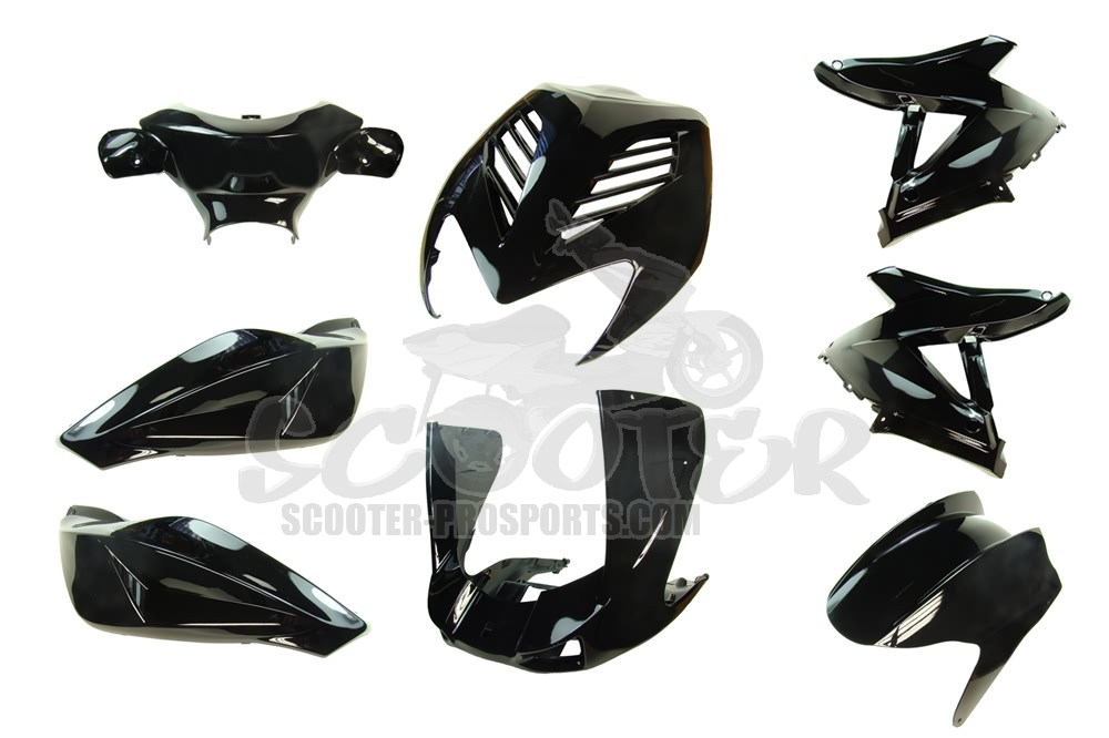 Verkleidungskit 8 Teile SPS-Racing Magic Black metallic - Aerox - Nitro Art.Nr.SPS85251